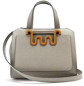 Valextra Passepartout Medium Leather Bag - Womens - Light Blue
