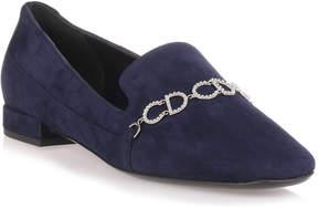 Christian Dior Navy suede loafer