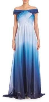 Shoshanna MIDNIGHT Ombre Silk Gown