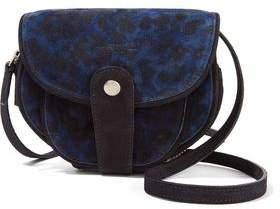 Jerome Dreyfuss Momo Leopard-Print Suede Shoulder Bag