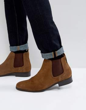 Ben Sherman Chelsea Boots In Tan Suede