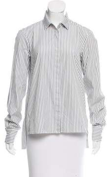 Caroline Constas Striped Button-Up Top
