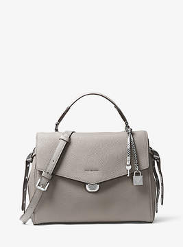Michael Kors Bristol Leather Satchel - GREY - STYLE