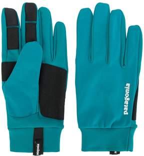 Patagonia panelled logo gloves