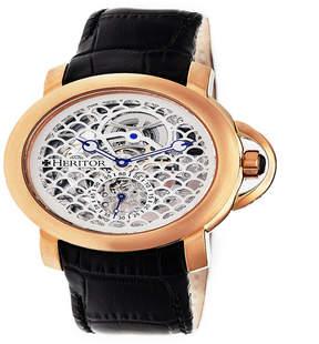 Heritor Mens Black Strap Watch-Herhr4005