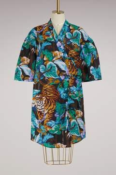 Kenzo Cotton short Kimono dress