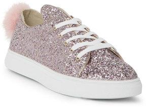 Wild Diva Pink Cala Glitter Bunny Low Top Sneakers
