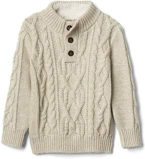 Gap Cozy cable-knit mockneck sweater