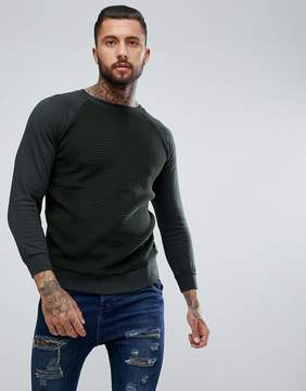 Brave Soul Textured Crew Neck Sweatshirt