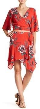 Band of Gypsies Floral Asymmetrical Hem Skirt