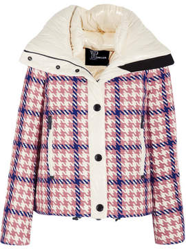 Moncler Flaine Embroidered Down Ski Jacket - Pink