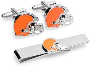Ice Cleveland Browns Cufflinks and Tie Bar Gift Set