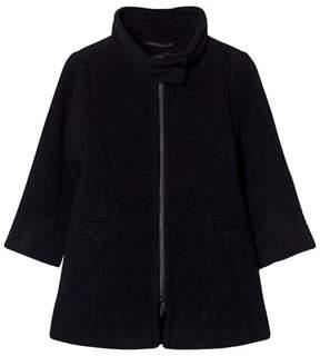 Little Remix Dark Blue Donna Wool Coat