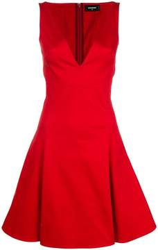 DSQUARED2 V-neck flared dress