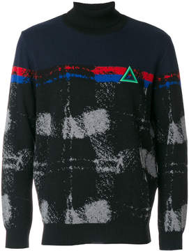 Iceberg embroidered turtle-neck sweater