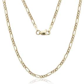 Alpha A A Solid 14kt Gold Figaro Chain, 20