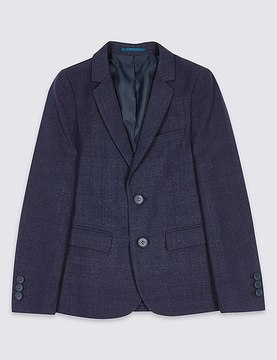 Marks and Spencer Checked V-Neck Jacket (3-14 Years)