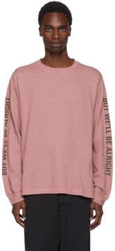 Robert Geller Pink Long Sleeve Im Scared Too T-Shirt