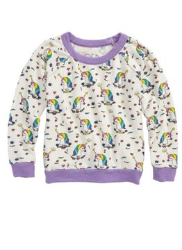 Chaser Toddler Girl's Unicorns Love Sweatshirt