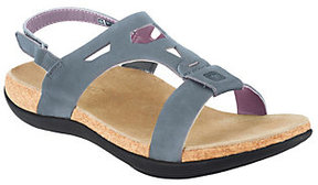 Spenco As Is Tora Orthotic Leather Sandals w/ Back Strap