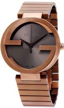 Gucci Interlocking XL Brown Dial PVD Stainless Steel Men's Watch