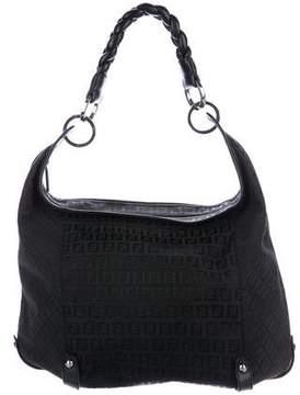 Fendi Leather-Trimmed Zucca Hobo