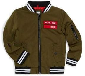 Givenchy Little Boy's& Boy's Twill Bomber Jacket
