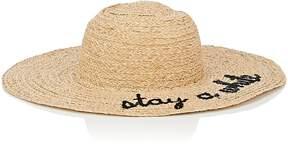 Barneys New York WOMEN'S STAY A WHILE RAFFIA WIDE-BRIM HAT