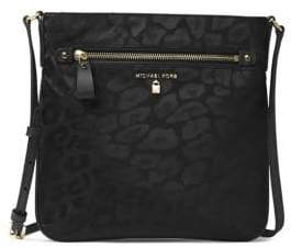 MICHAEL Michael Kors Kelsey Nylon Large Leopard Print Crossbody Bag