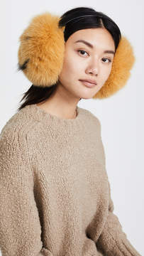 Anya Hindmarch Smiley Fur Earmuffs