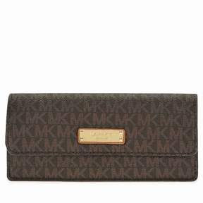 Michael Kors Flat Signature Logo Wallet - Brown - AS SHOWN - STYLE