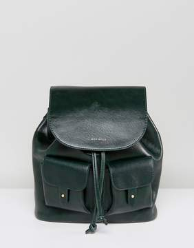Jack Wills Mini Leather Look Backpack with Pockets