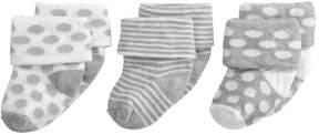Jefferies Socks Turn Cuff 3 Pack Kids Shoes