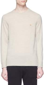 MAISON KITSUNÉ Fox logo appliqué Merino wool sweater