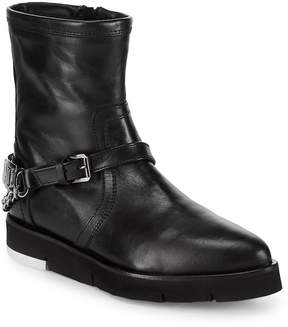 Love Moschino Women's St. Tod Point Toe Leather Booties