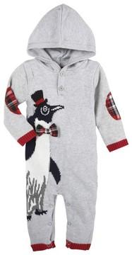 Andy & Evan Infant Boy's Christmas Penguin Hooded Romper