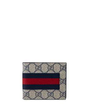 Gucci Web GG Supreme Canvas Wallet