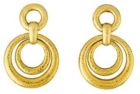 David Webb 18K Staggered Circle Drop Earrings
