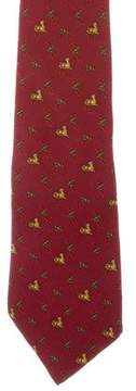 Salvatore Ferragamo Tiger Printed Silk Tie
