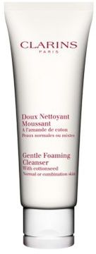 Clarins Gentle Foaming Cleanser with Cottonseed Normal to Combination Skin - 4.4 Oz.