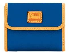 Dooney & Bourke Patterson Leather Small Flap Credit Card Wallet - MARINE - STYLE