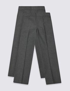 Marks and Spencer 2 Pack Boys' Skinny Leg Trousers