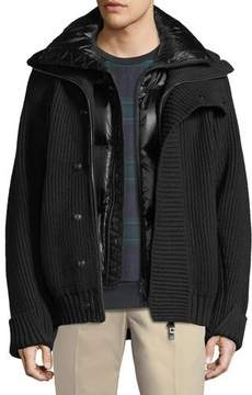 Burberry Wareham Knit Jacket with Quilted Vest