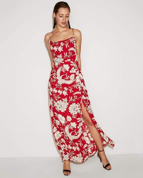 Express Tropical Floral Scoop Neck Maxi Dress