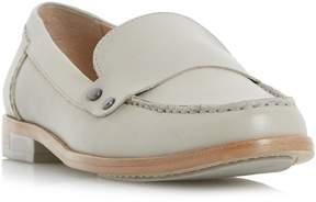Dune London GIOVANI - PALE GREY Stud Detail Penny Loafer Shoe