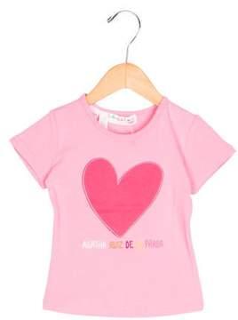 Agatha Ruiz De La Prada Girls' Embroidered Short Sleeve Top w/ Tags
