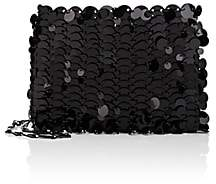 Paco Rabanne Women's Iconic Leather Chain Bag-Black
