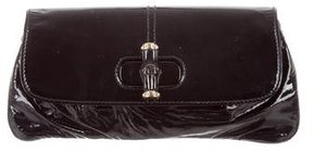 Gucci Patent Bamboo Clutch - BLACK - STYLE