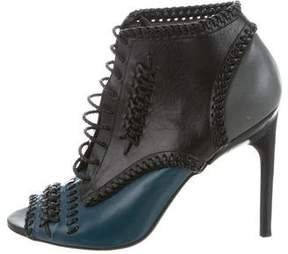 Jason Wu Leather Peep-Toe Booties