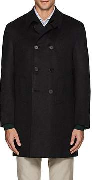 Kiton Men's Cashmere Melton Double-Breasted Coat